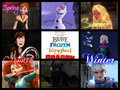 The Seasons  - rise-of-the-frozen-brave-tangled-dragons fan art