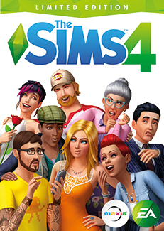 Sims 4 karatasi la kupamba ukuta entitled The Sims4 official art box