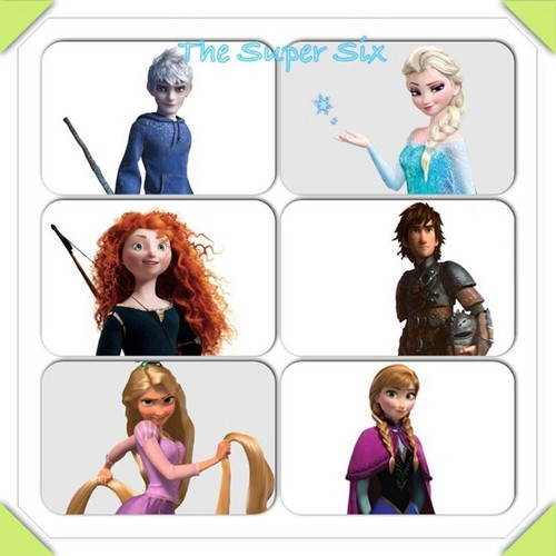 Rise of the 겨울왕국 메리다와 마법의 숲 라푼젤 용 바탕화면 titled The Super Six