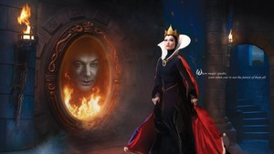 The evil Queen and the magic mirror