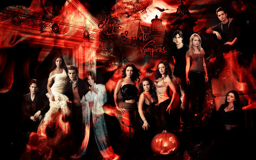 Charmed wallpaper probably containing a fire, a concert, and an abattoir entitled The secret circle, The vampire diaries, Charmed