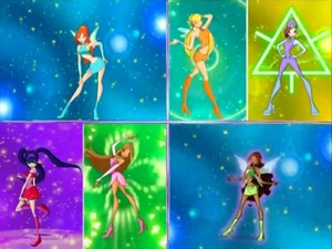 The winx in their magic winx outfits
