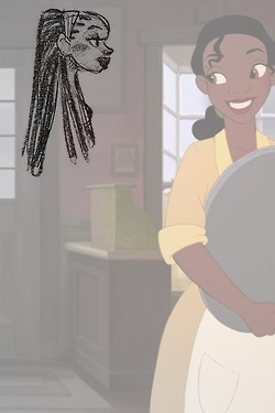 Tiana Concept Art vs. Final