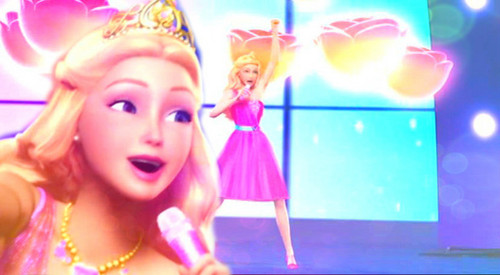 Barbie the Princess and the popstar wallpaper titled Tori's Short Pink Casual Outfit