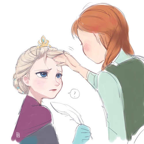 Touching Elsa's Hair
