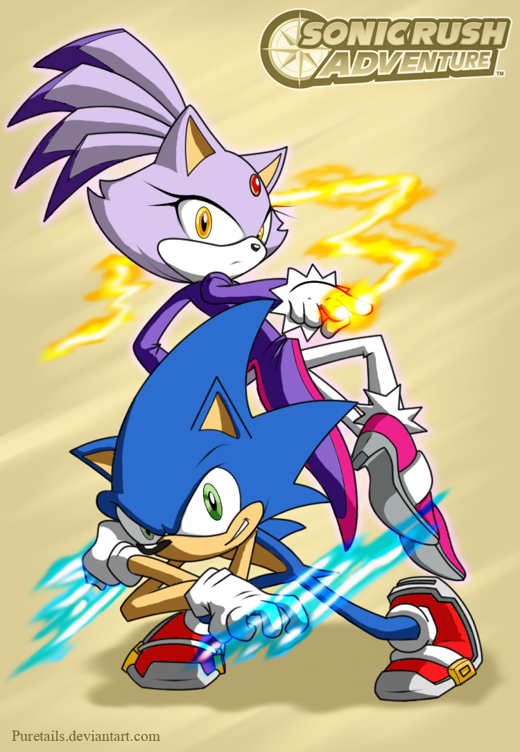 Sonic Rush Images Two Fighters From Two Worlds Hd Wallpaper And