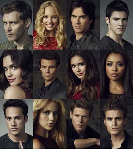The Vampire Diaries TV دکھائیں پیپر وال entitled Vampire Diaries cast