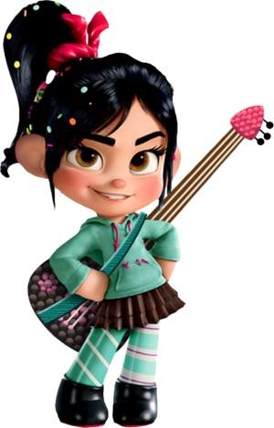 Vanellope and her gitaar