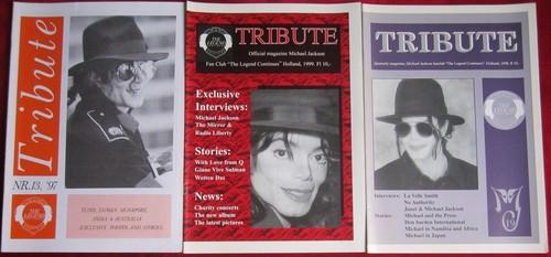 Michael Jackson wallpaper containing anime entitled Vintage Michael Jackson Fan Club Newsletters