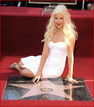 Walk Of Fame Induction Ceremony For Christina Aguilera