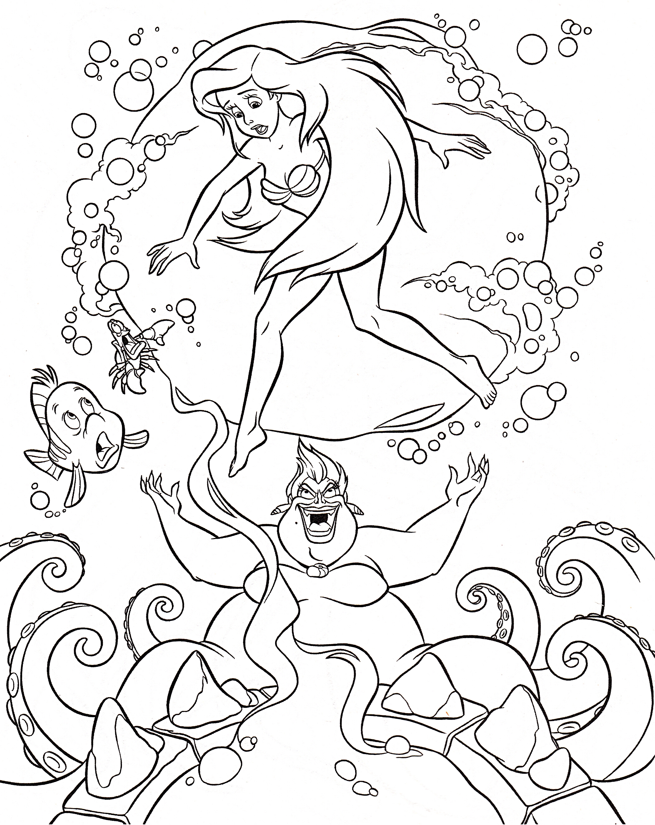 ursula little mermaid coloring pages - photo#6