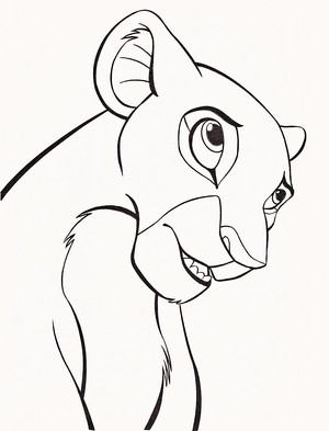 Walt 디즈니 Coloring Pages - Nala