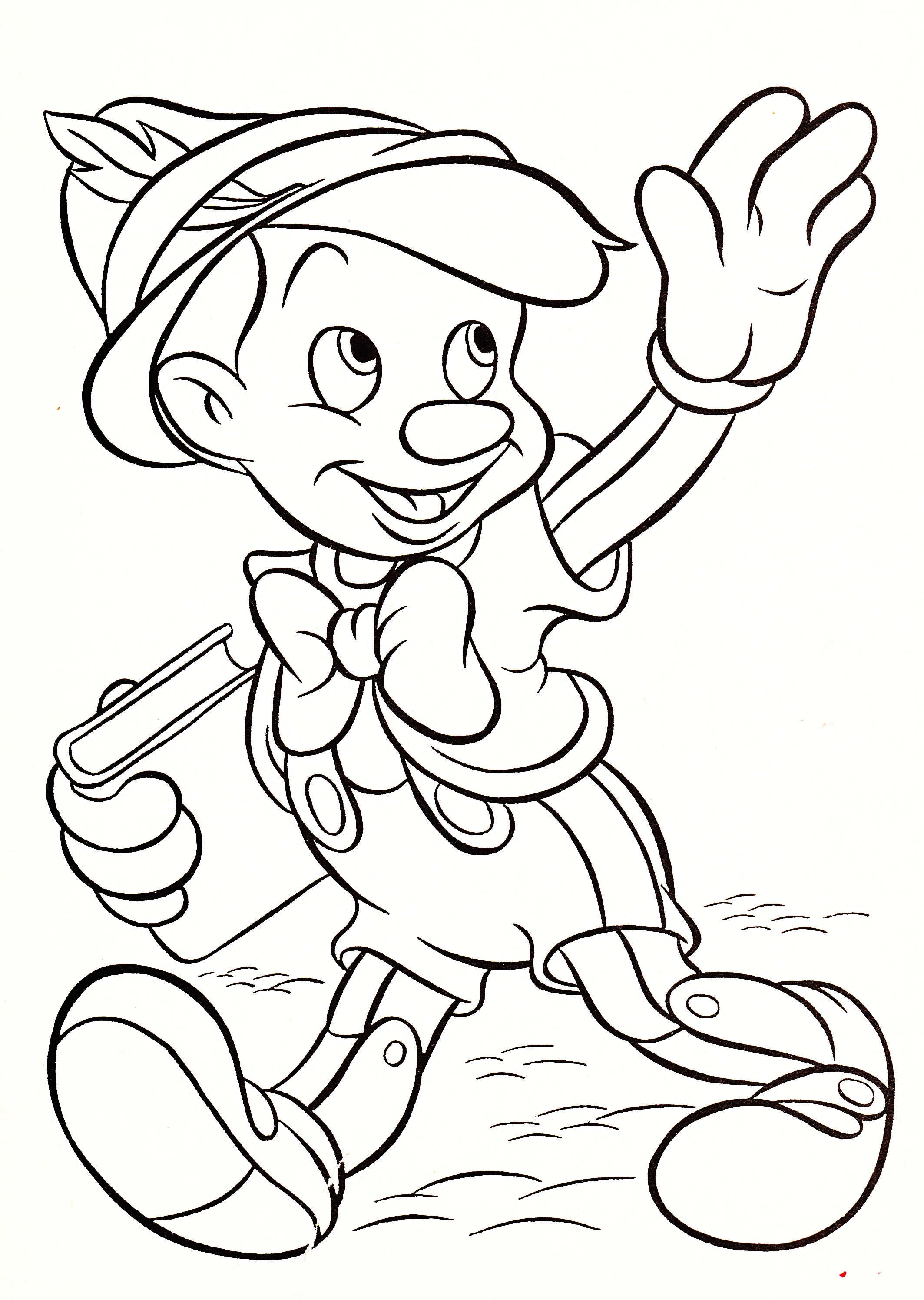 Coloring Pages Walt Disney : Walt disney coloring pages pinocchio
