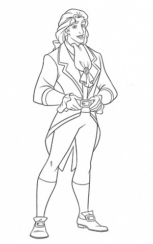 Walt 迪士尼 Coloring Pages - Prince Adam