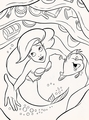 Walt Disney Coloring Pages - Princess Ariel & Flounder