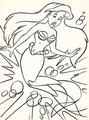 Walt Disney Coloring Pages - Princess Ariel