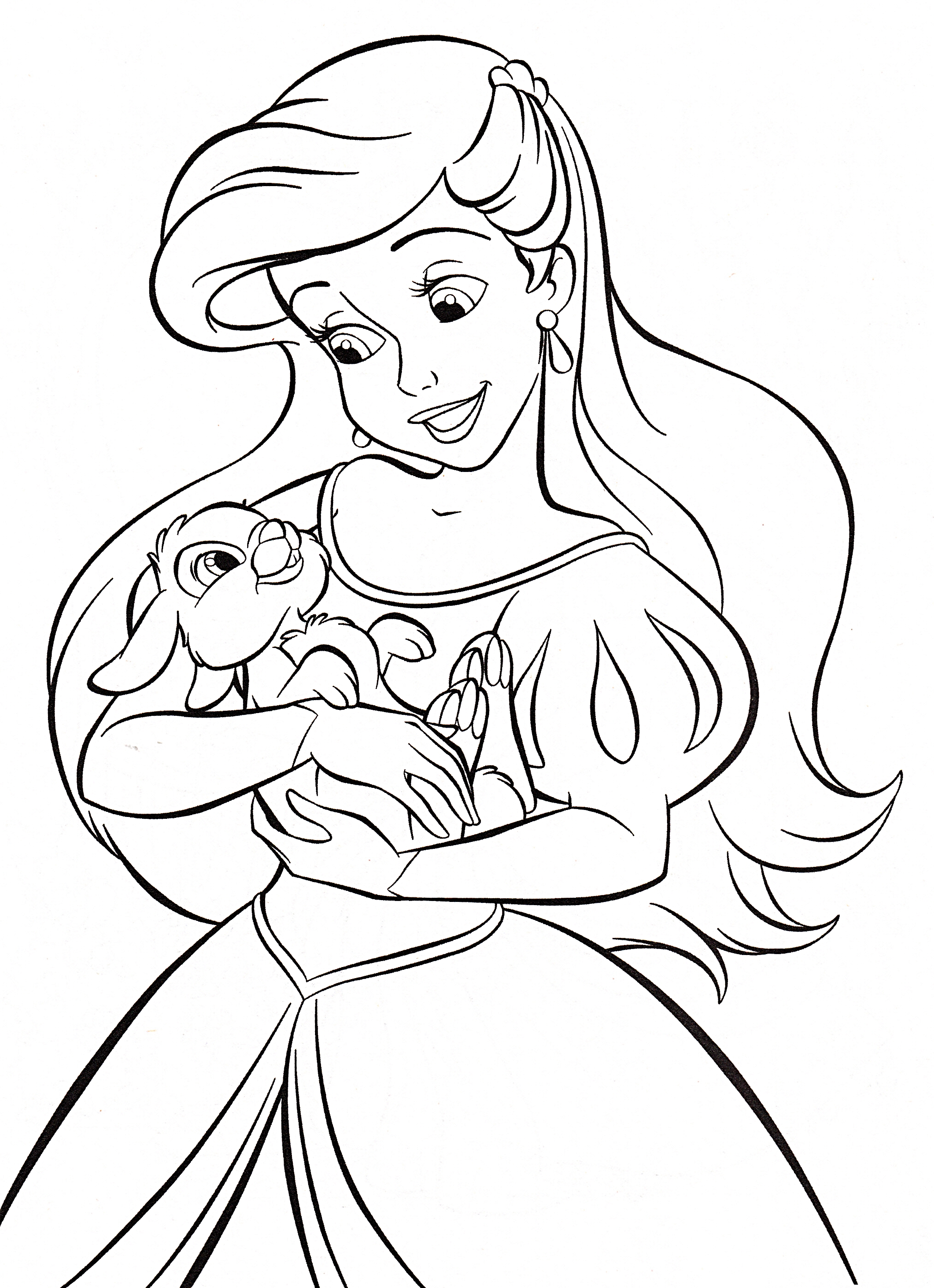 Walt Disney Coloring Pages Princess Ariel Personajes De Walt