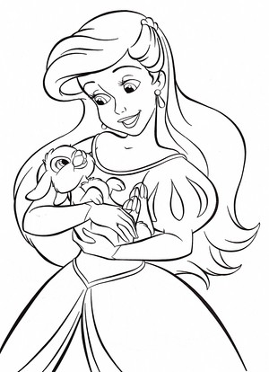 Walt Дисней Coloring Pages - Princess Ariel