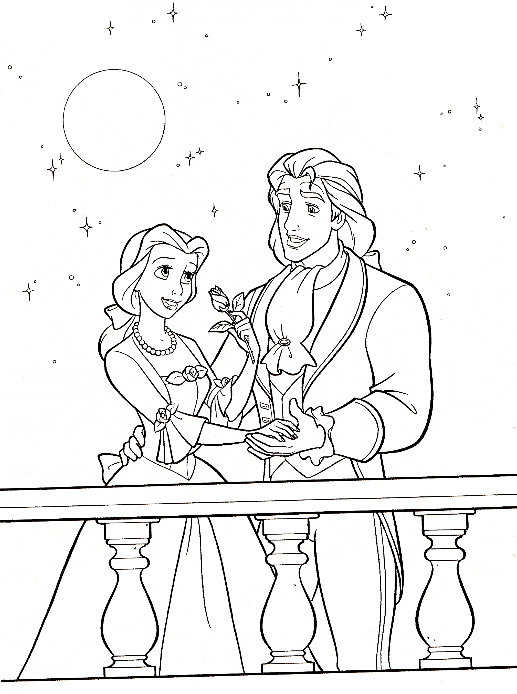 coloring pages disney princess belle - photo#34