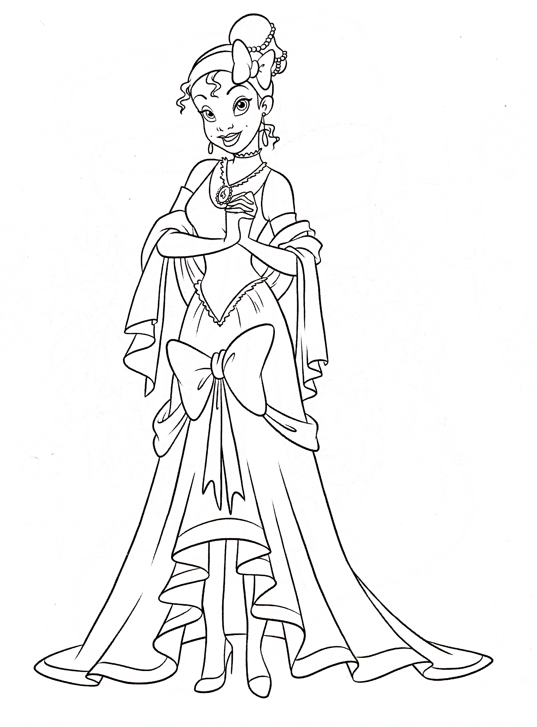 disney princess characters coloring pages - photo#26