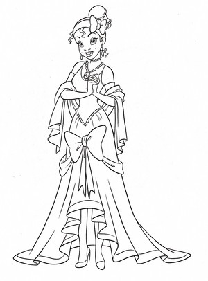 Walt Disney Coloring Pages - Princess Tiana