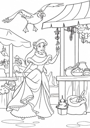 Walt Дисней Coloring Pages - Scuttle & Princess Ariel