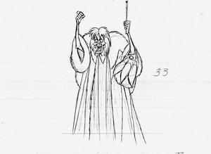 Walt disney Sketches - Cruella De Vil