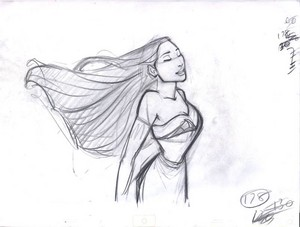 Walt disney Sketches - Pocahontas