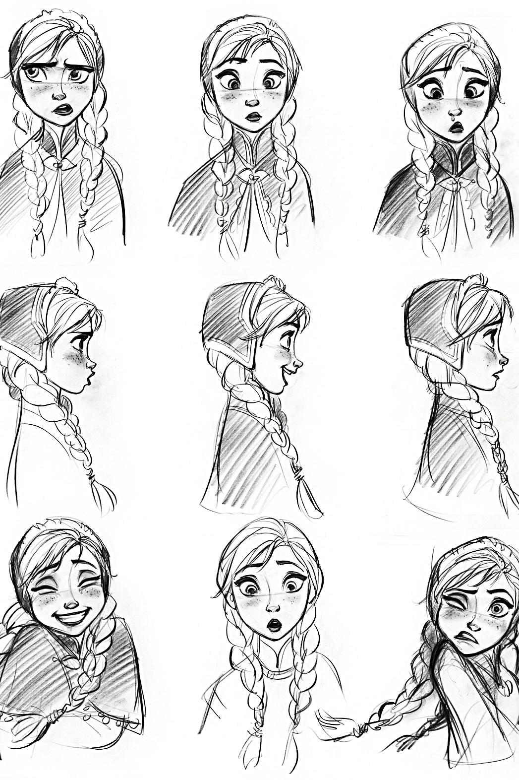 Walt Disney Sketches - Princess Anna