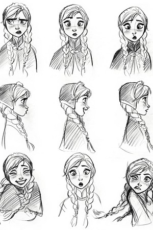 Walt Дисней Sketches - Princess Anna