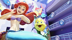 Walt Disney World - Disney's Art of animasi Resort: Princess Ariel & menggelepar, flounder