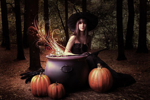 Witch in a Cauldron