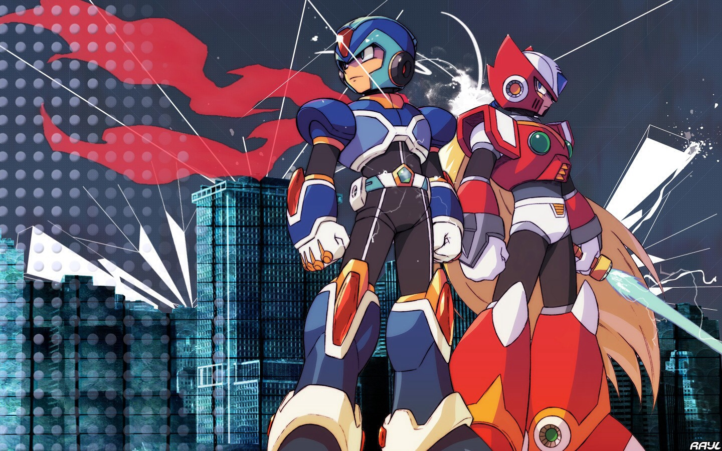 megaman x anime images X and Zero HD wallpaper and background photos (37105052)