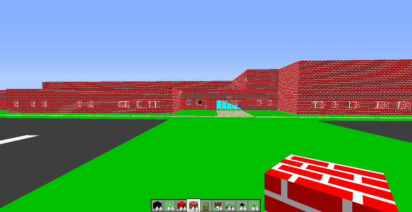 Download Wallpaper Minecraft Soccer - Yellow-Middle-School-minecraft-buildings-37138831-1366-705  Gallery_219419.png