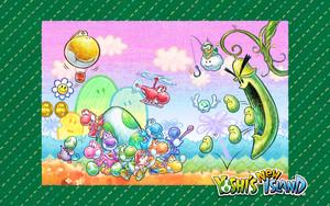 Yoshi's New Island - 1280 x 800 fondo de pantalla