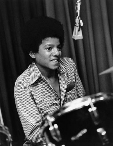 Michael Jackson wallpaper with a drummer and a tympanist called Young Michael