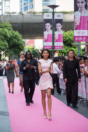 Zendaya at Millions of Milkshakes new store opening in Shanghai (May 28th)