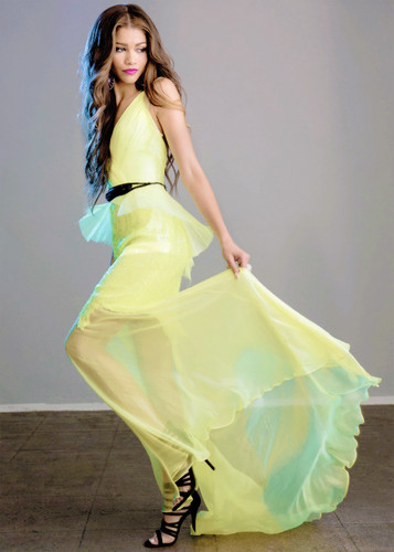 Zendaya Coleman wallpaper possibly with a gown, a dinner dress, and a bridesmaid called Zendaya shot by Margaret Malandruccolo for Faze Magazine