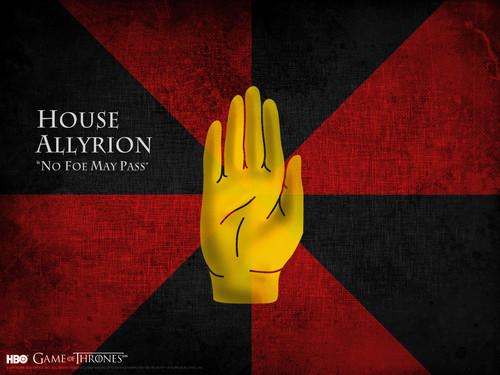 Game of Thrones karatasi la kupamba ukuta titled House Allyrion