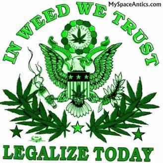 Marijuana wallpaper entitled in weed we trust