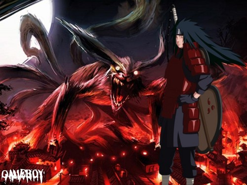 Naruto hình nền probably with anime titled madara uchiha
