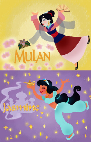 Mulan and princess gelsomino