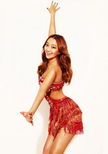 SISTAR (씨스타) wallpaper probably with a portrait called Hyorin for 'Coca-Cola's mate teh brand
