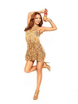 Hyorin for 'Coca-Cola's mate thee brand