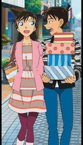 ran and shinichi shopping