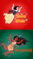snow white and pocahontas - disney fan art