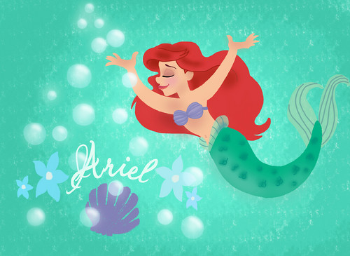 Ariel वॉलपेपर entitled the little mermaid