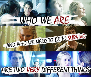 who we are and who we need to be to survive are two very different things