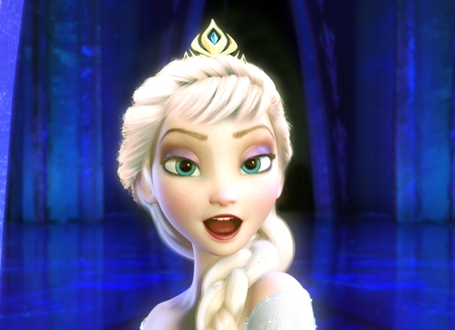 elsa dan anna wallpaper possibly containing a portrait entitled Elsa in new hairstyle