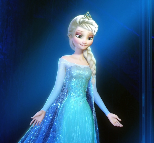 elsa e ana wallpaper with a vestido titled Elsa in new hairstyle